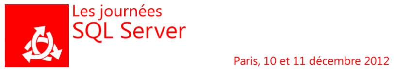 Journées SQL Server 2012, piqûre de rappel